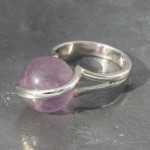Amethyst Ball Ring