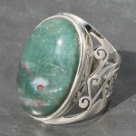 Bloodstone Jaali Ring