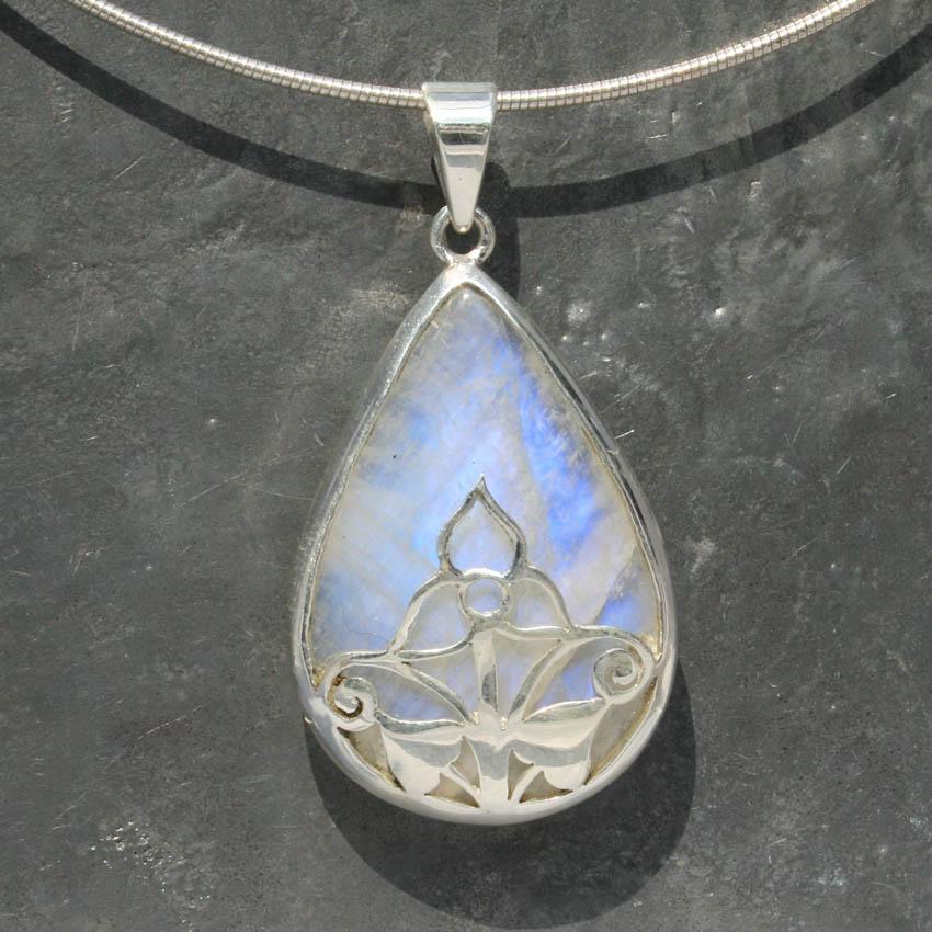 Designer filigree moonstone pendant lumina jewellery designer filigree moonstone pendant 1 mozeypictures Images