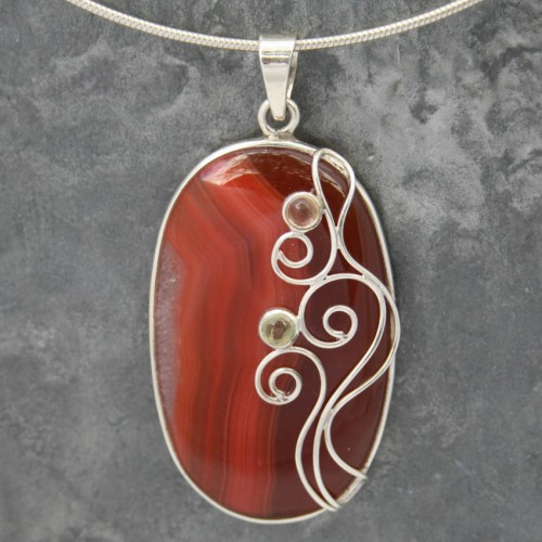 Designer Wire Carnelain Pendant