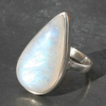 Moonstone Teardrop Fixed Ring