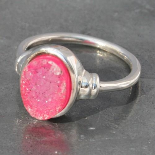 Pink Druzy Ring