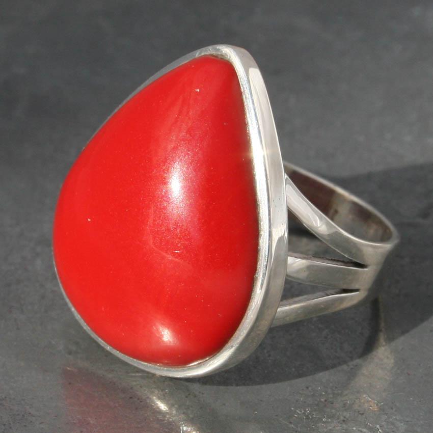 Red Jasper Teardrop Ring Lumina Jewellery