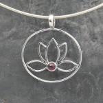 Circle Lotus with garnet