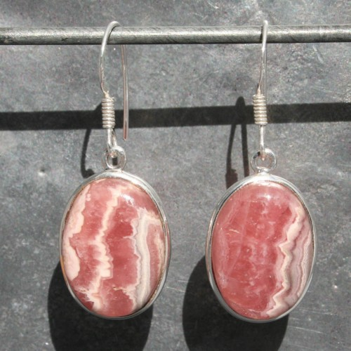Rhodochrosite Earrings 1
