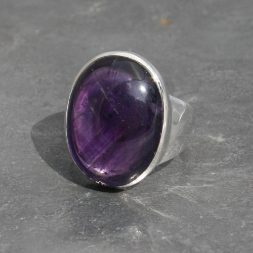 Amethyst ring oval