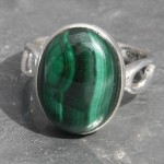 Malachite o-band ring a