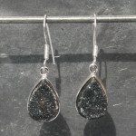 Druzy Black earrings