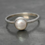 Fresh water pearl small ring