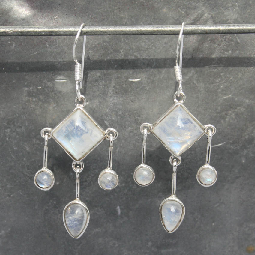 museum necklace of stone moonstone moon jewelry set earrings ring silver