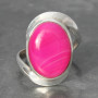Pink agate twist ring