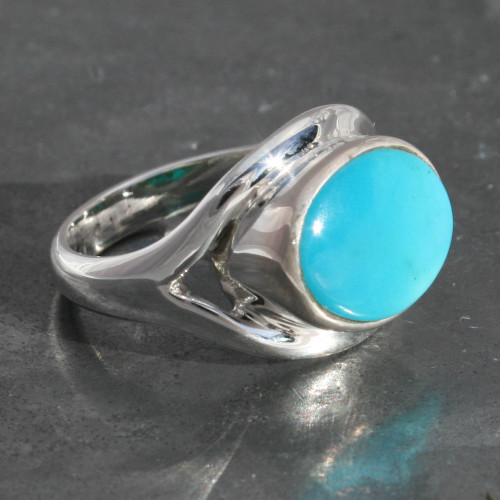 Sleeping beauty Arizona Turquoise , sterling silver 925, handmade and fairtrade