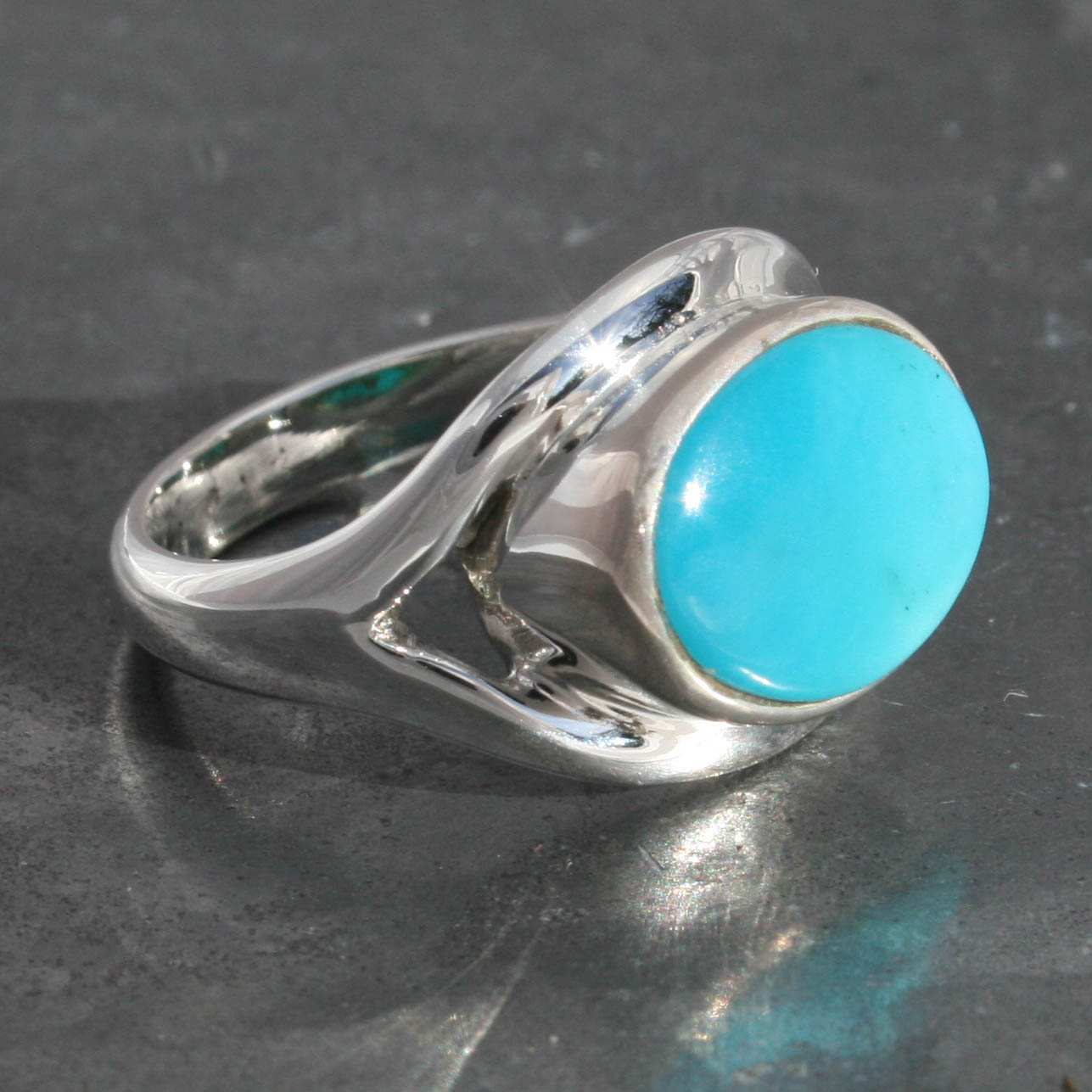 bisbee products ring logan jewelry rings turquoise hollowell single