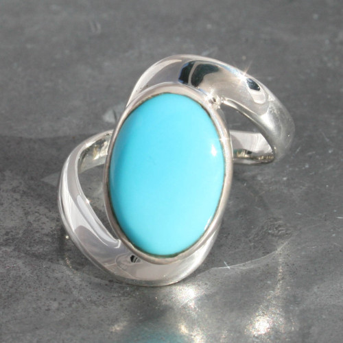Arizona Turquoise Sleeping beauty , sterling silver 925, handmade and fairtrade