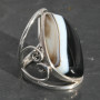 Swish shape Sardonyx wire heart ring. 1