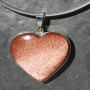 Goldstone/sunstone(manmade) heart pendant