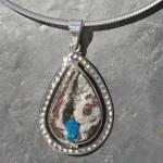 Cavansite matirx pendant