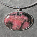 Rhodonite Pendant oval large