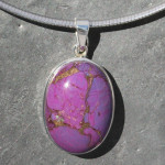 Mohave turquoise  pendant purple