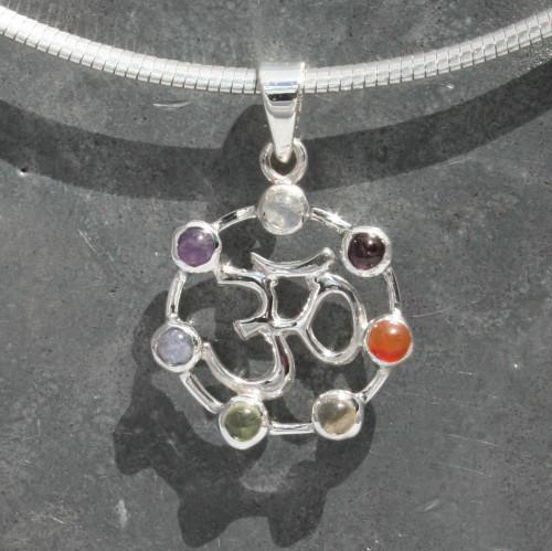 Chakra aum pendant