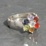 Chakra faceted ring with wave1