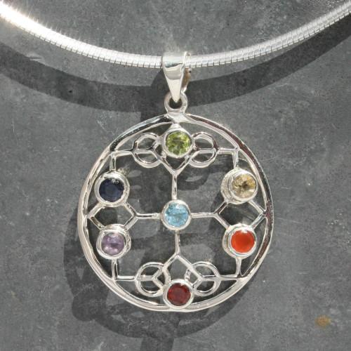 Chakra peace pendant