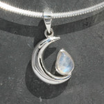 New moon with moonstone pendant