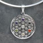 Seed of life chakra pendant