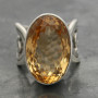 Citrine ring wire band