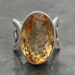 Citrine ring wire band a
