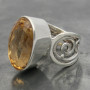 Citrine ring wire band side