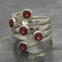 Garnet 5 stone ring