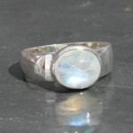 Moonstone oval sideway ring front