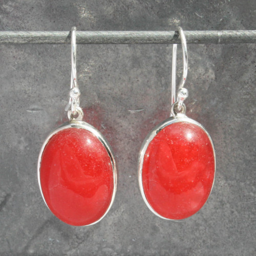 Red carnelian earring