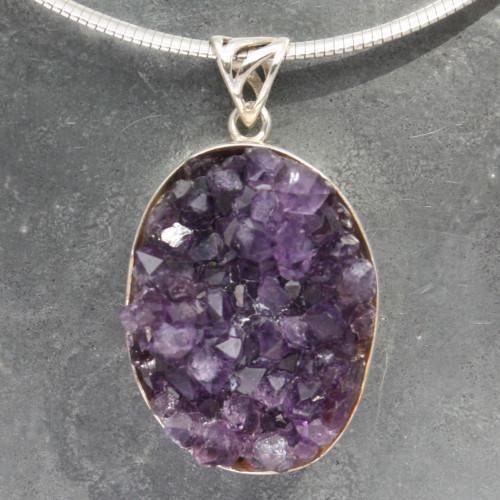 Amethyst Druzy pendant