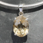Citrine faceted pendant