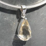 Citrine faceted pendant tdss