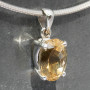 Citrine oval pendant  side