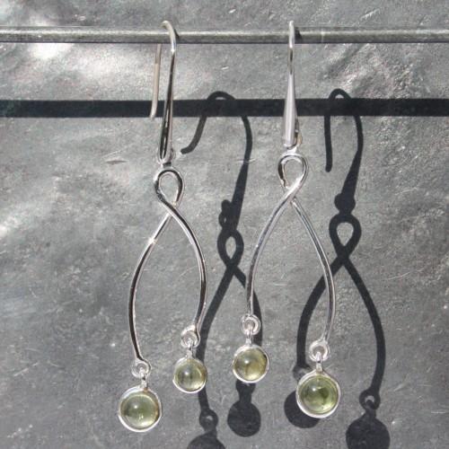 Earrings 2 drop Peridot