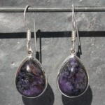 Earrings Charoite