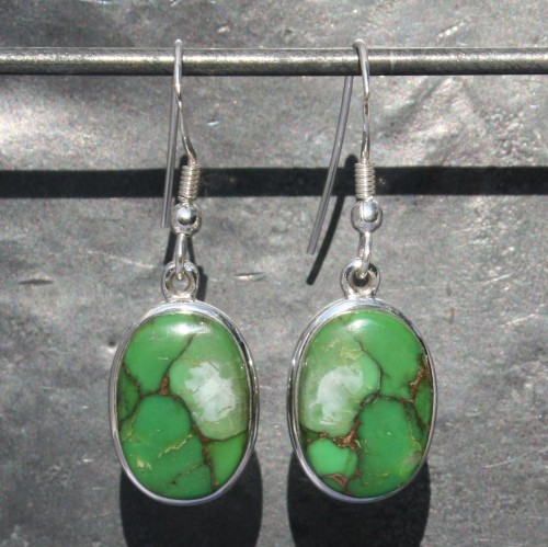 Earrings Green Mohave Turquoise