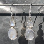 Earrings Moonstone 2 stone