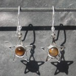 Earrings Tiger eye's Star