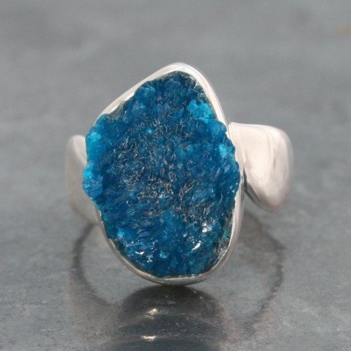 Cavansite ring Rough