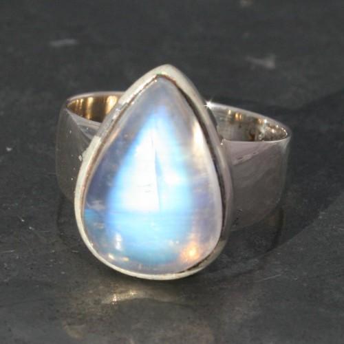 Moonstone Drop Ring