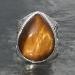 Tiger's eye Jali Ring