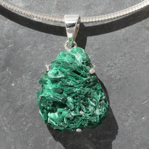 Malachite Crystal Druzy Pendant