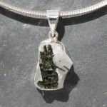 Tourmaline on Quartz Pendant