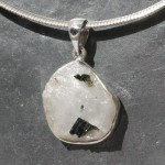 Tourmaline on Quartz-Pendant