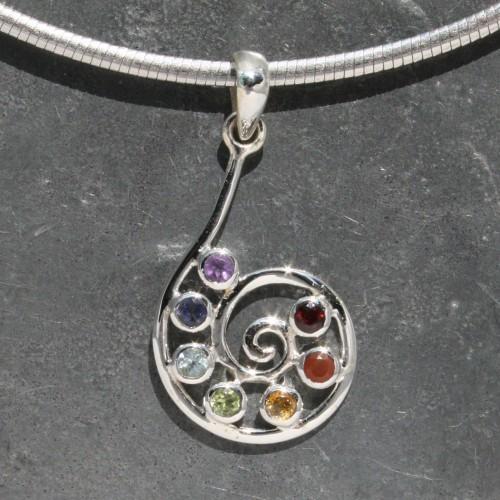 Chakra Spiral Pendant